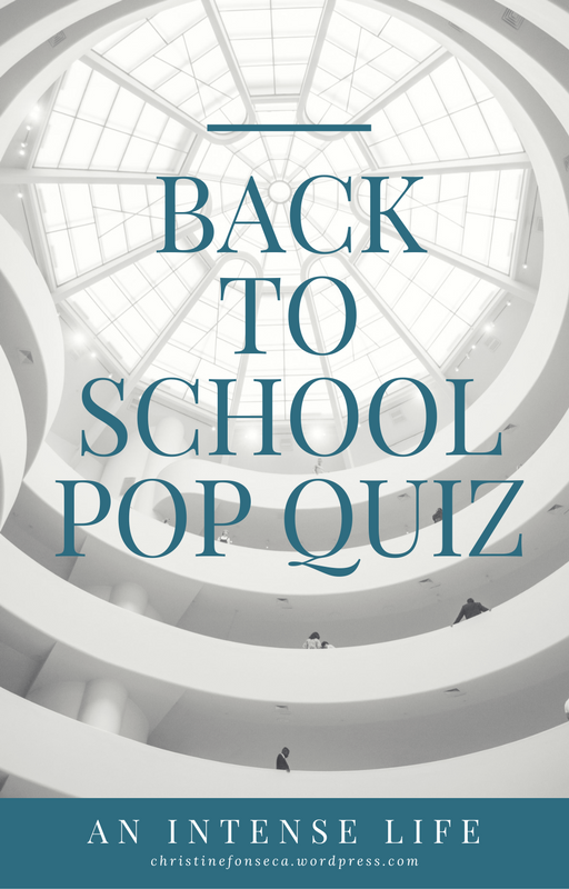 Back to School Pop Quiz