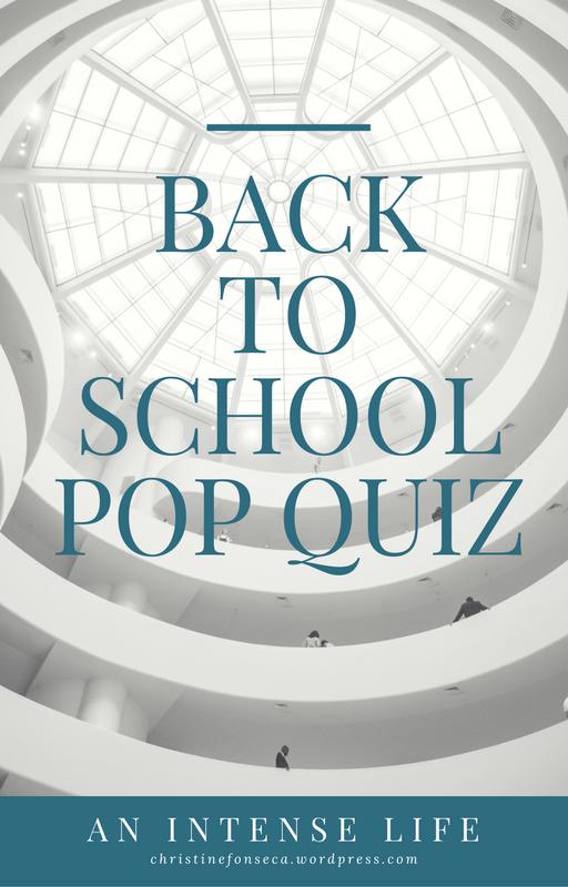 Back to School PopQuiz